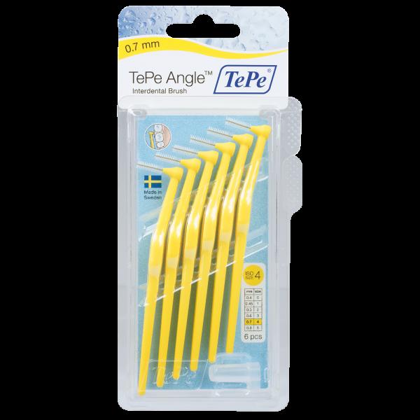 TePe Angle Interdentalbürste: gelb / 0.7 mm / 6 Stück