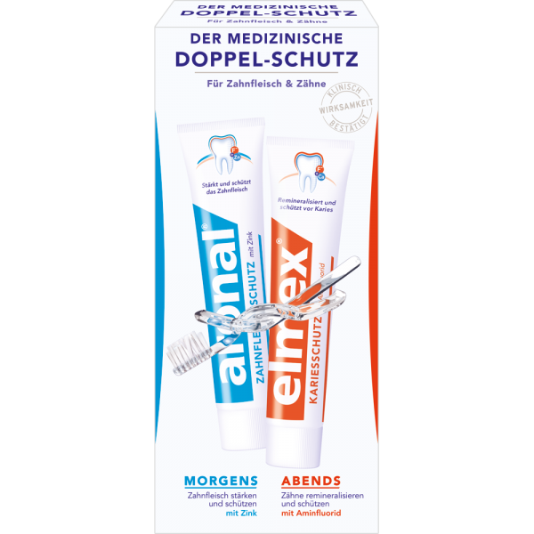 ARONAL/ELMEX Zahnpasta: Mundhygiene-Set 2 x 75ml