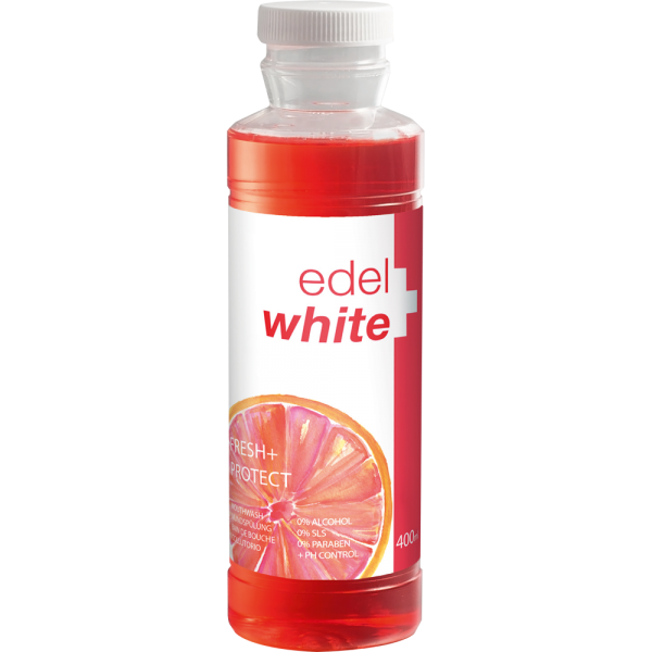 edel+white Fresh & Protect Mundspülung: 400 ml Flasche