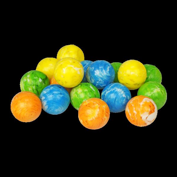 wellsamed Flummiball: je 100 Stück gelb, orange, grün, blau