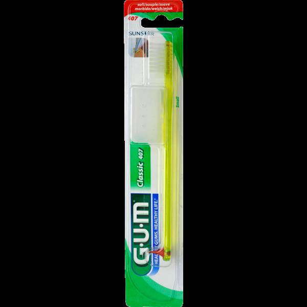 GUM Classic Zahnbürste: kurz, weich, 1 Stück (Blister)