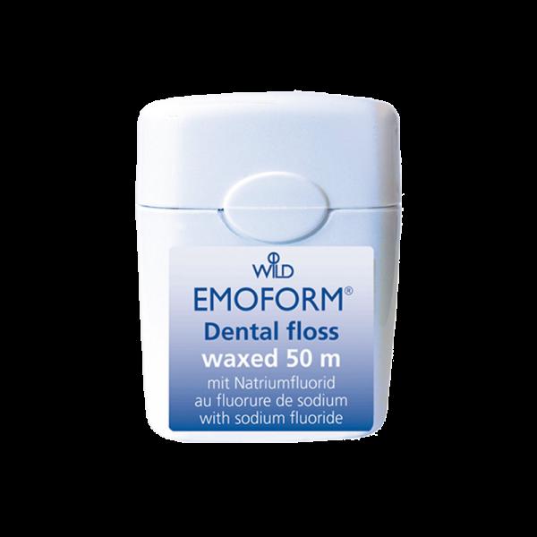 WILD Emoform Dental Floss Zahnseide: gewachst, 50 m