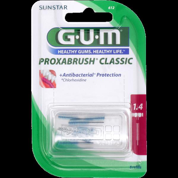 GUM Proxabrush Classic Ersatzbürsten: pink, ISO 4 (1,4 mm, Kerze)