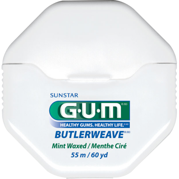 GUM Butlerweave Webseide: gewachst mint, 54,8 m