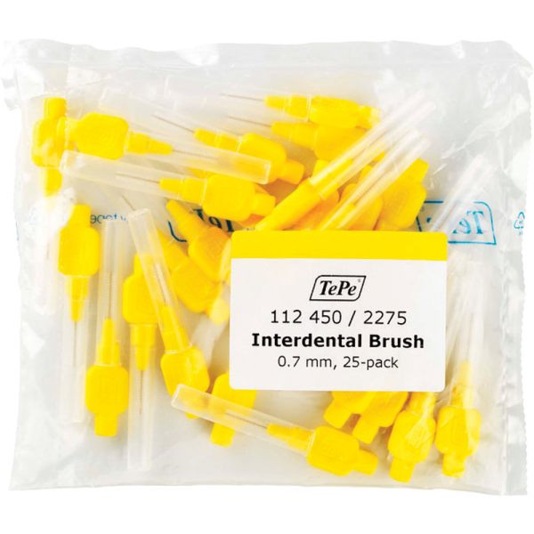 TePe Interdentalbürste - Original: gelb / 0,7 mm / 25 Stück