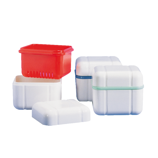 CURAPROX »box« Prothesenbox: 1 Stück, rot