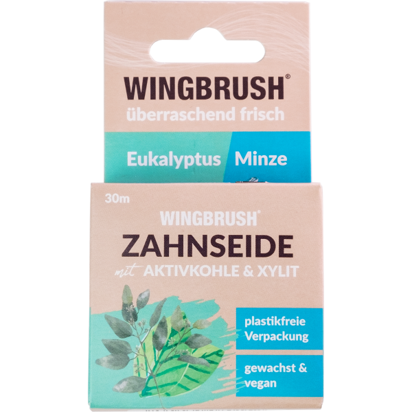 Wingbrush Zahnseide, gewachst: Eukalyptus / Minze
